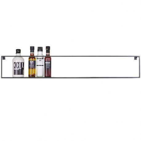 Półka ścienna MEERT 100 cm metalowa czarna - Woood