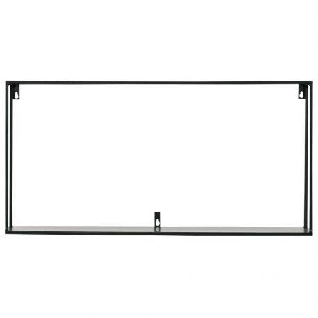 Półka ścienna MEERT XL 70 cm metalowa czarna