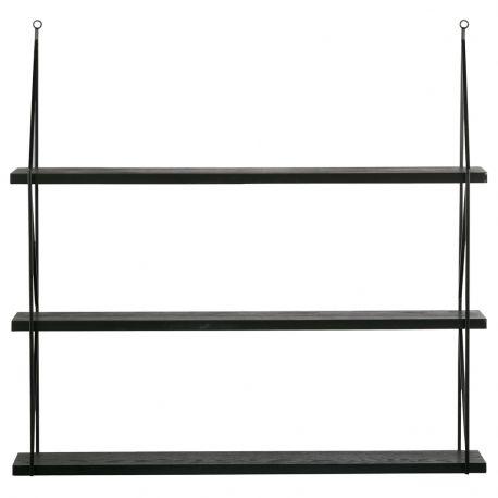 Półki wiszące KIKI 3 szt. metalowe czarne