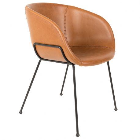 Fotel  FESTEN,  brązowy - Zuiver