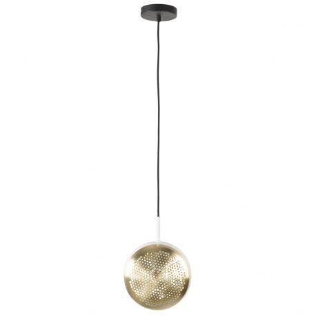 Lampa wisząca GRINGO FLAT, biało-mosiężna - Zuiver