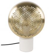 Lampa stołowa GRINGO, biało-mosiężna