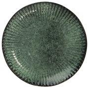 Talerz dekoracyjny zielono-czarny - Madam Stoltz