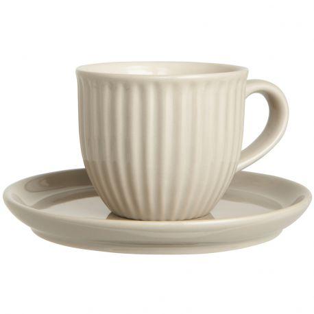 Filiżanka ze spodek MYNTE, latte - Ib Laursen