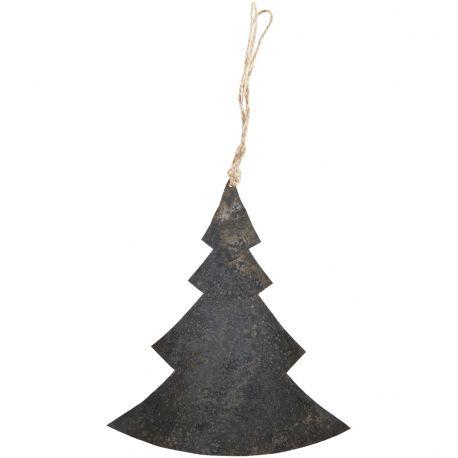 Ozdoba świąteczna CHOINKA metalowa czarna - Ib Laursen