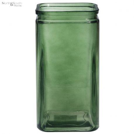Wazon ze szkła z recyklingu jasnozielony
