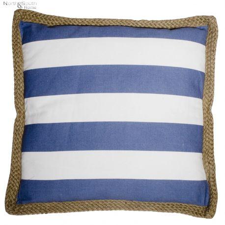 Poduszka 50x50, biało-niebieska