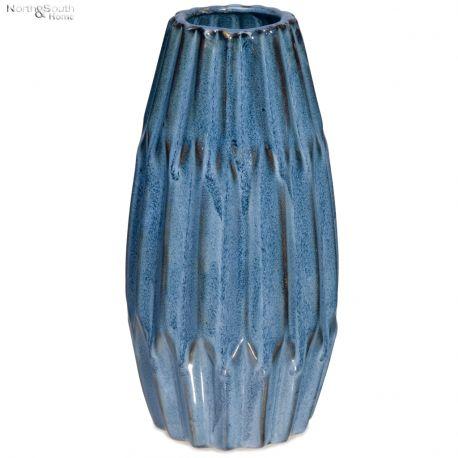 Wazon ceramiczny niebieski wzór I