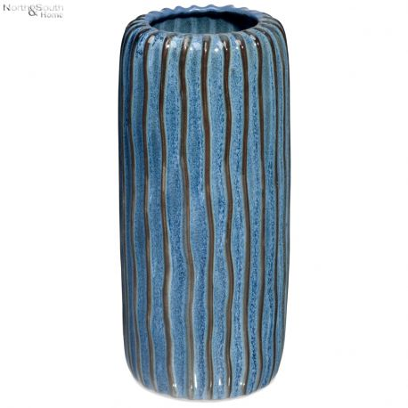 Wazon ceramiczny niebieski wzór II