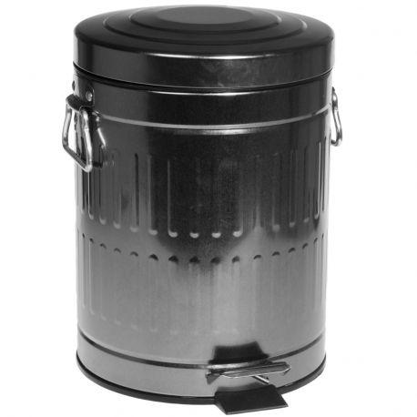 Kosz na śmieci, ocynk, 5 litrów - Nordal
