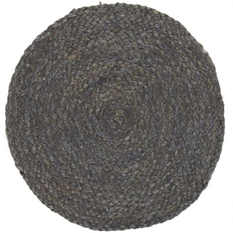 Podkładka jutowa, okrągła, granatowa - Ib Laursen
