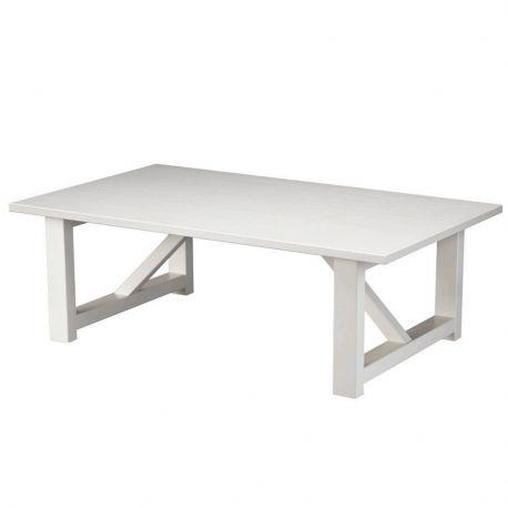 Stolik SOLO, biały, 120x70 cm - Woood