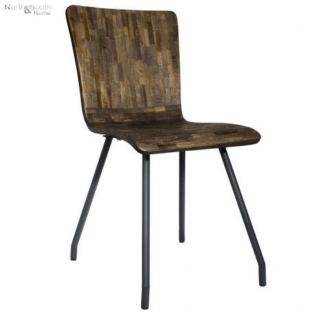 Krzesło FLORES, brązowe - Light & Living