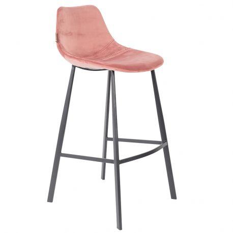 Hoker FRANKY aksamitny wysoki, różowy - Dutchbone