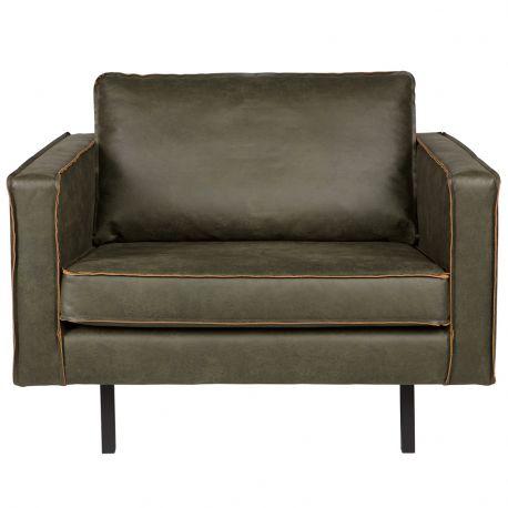 Fotel skórzany RODEO, zielony - Be Pure