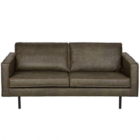Sofa skórzana RODEO 2 osobowa, zielona - Be Pure