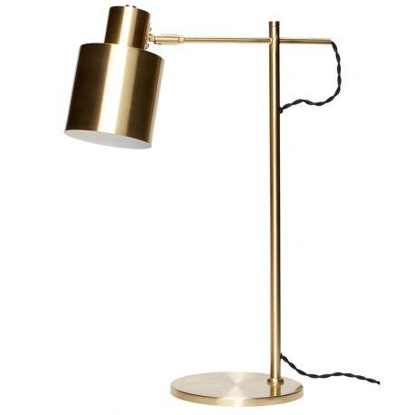 Lampa biurkowa mosiądź - Hübsch