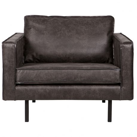 Fotel skórzany RODEO, czarny - Be Pure