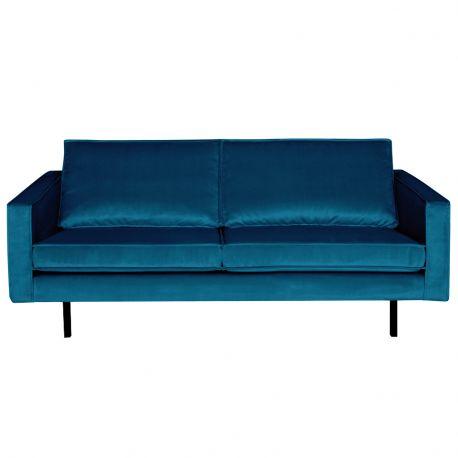Sofa aksamitna RODEO 2 osobowa, niebieska - Be Pure