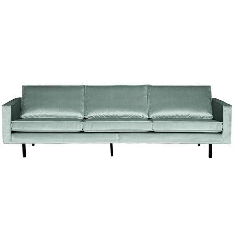 Sofa aksamitna RODEO 3 osobowa, miętowa - Be Pure