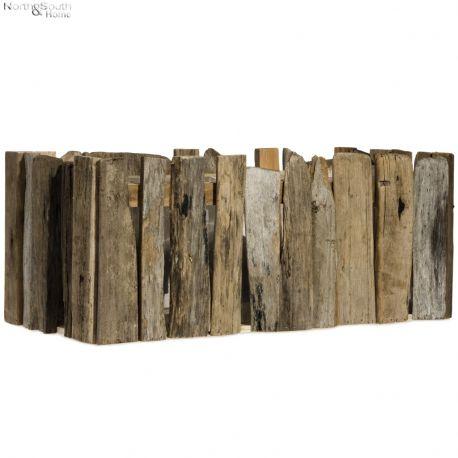 Osłonka na doniczkę, drewniana, duża