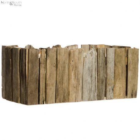 Osłonka na doniczkę, drewniana, średnia