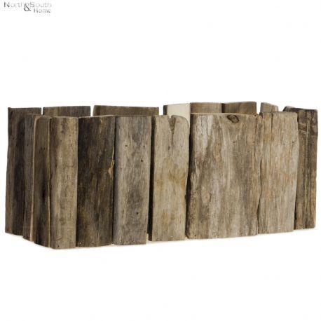 Osłonka na doniczkę, drewniana, mała
