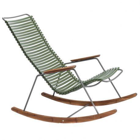Fotel bujany CLICK, oliwkowy 71 - Houe