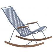 Fotel bujany CLICK, niebieski 82
