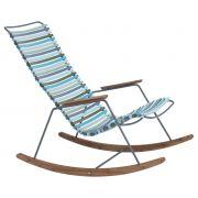 Fotel bujany CLICK, , multicolor 2 (zielono-nieb) 84