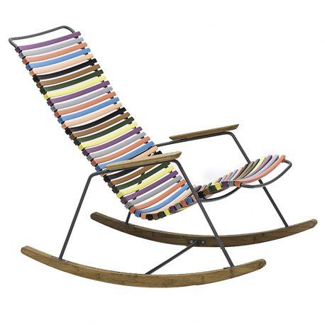 Fotel bujany CLICK, , multicolor 1 (czerw-żółty) 83 - Houe