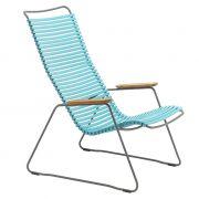 Krzesło CLICK LOUNGE, turkusowe 78