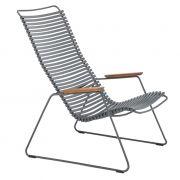 Krzesło CLICK LOUNGE, ciemnoszare 70