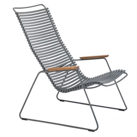 Krzesło CLICK LOUNGE, ciemnoszare 70 - Houe