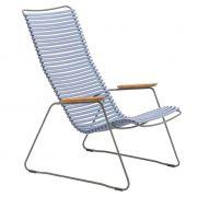 Krzesło CLICK LOUNGE, niebieski 82