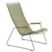 Krzesło CLICK LOUNGE, oliwkowy 71