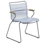 Krzesło CLICK z podłokietnikami, jasnoniebieskie 80