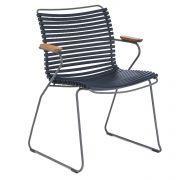 Krzesło CLICK z podłokietnikami, ciemnoniebieskie 91