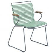 Krzesło CLICK z podłokietnikami, zielone 76