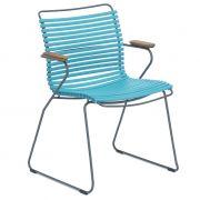 Krzesło CLICK z podłokietnikami, turkusowe 78