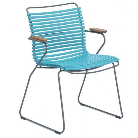 Krzesło CLICK z podłokietnikami, turkusowe 78 - Houe