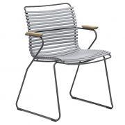 Krzesło CLICK z podłokietnikami, szare 39