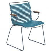 Krzesło CLICK z podłokietnikami, petrol 77