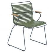 Krzesło CLICK z podłokietnikami, oliwkowe 71