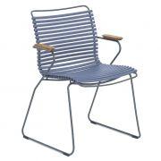 Krzesło CLICK z podłokietnikami, niebieskie 82