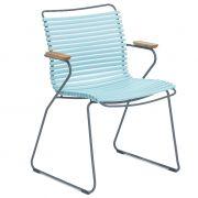 Krzesło CLICK z podłokietnikami, miętowe 79