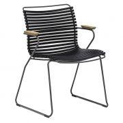Krzesło CLICK z podłokietnikami, czarne 20
