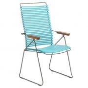 Krzesło CLICK wysokie, regulowane, turkusowe 78