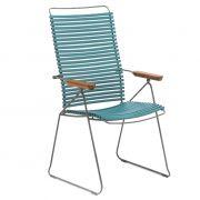 Krzesło CLICK wysokie, regulowane, petrol 77