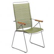 Krzesło CLICK wysokie, regulowane, oliwkowe 71